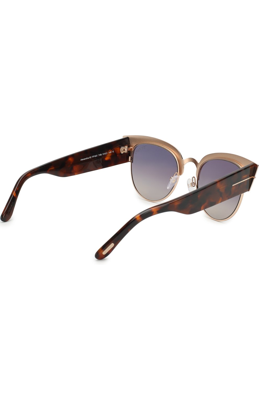 Женские солнцезащитные очки TOM FORD бронзового цвета, арт. TF607 | Фото 3