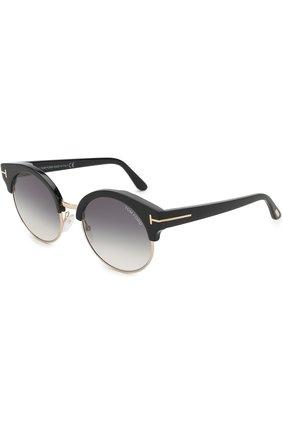 Женские солнцезащитные очки TOM FORD черного цвета, арт. TF608 | Фото 1