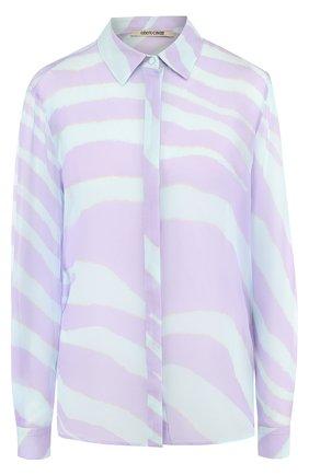 Шелковая блуза с принтом | Фото №1