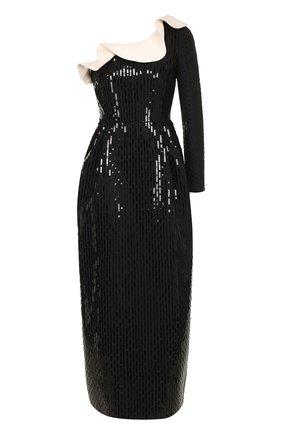 f42f0997193 Приталенное платье с декорированной отделкой и оборкой