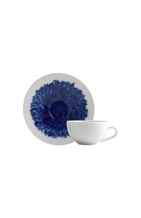 Мужская кофейная чашка с блюдцем in bloom BERNARDAUD синего цвета, арт. 1768/21509 | Фото 1