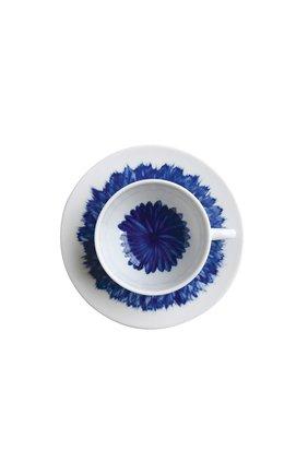Мужская кофейная чашка с блюдцем in bloom BERNARDAUD синего цвета, арт. 1768/21509 | Фото 2