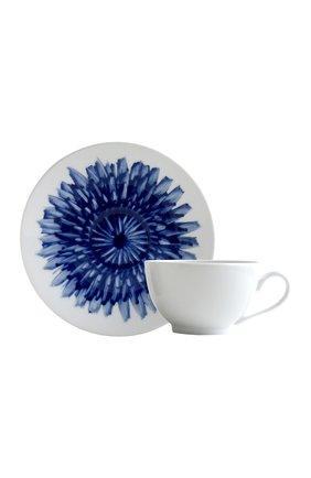 Мужская чайная чашка с блюдцем in bloom BERNARDAUD синего цвета, арт. 1768/3095 | Фото 1