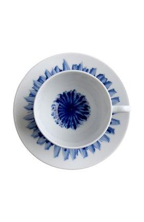Мужская чайная чашка с блюдцем in bloom BERNARDAUD синего цвета, арт. 1768/3095 | Фото 2