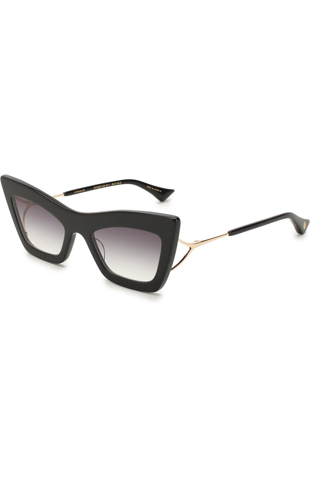 Женские солнцезащитные очки DITA черного цвета, арт. ERASUR/01   Фото 1