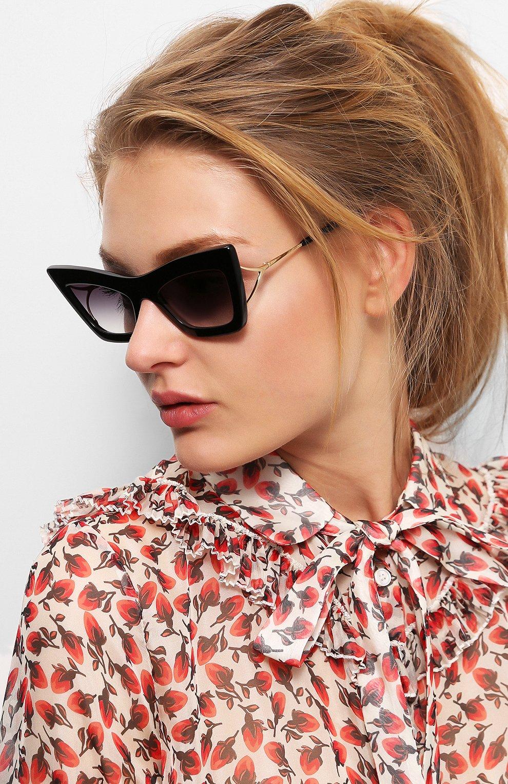 Женские солнцезащитные очки DITA черного цвета, арт. ERASUR/01   Фото 2