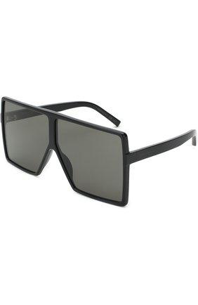 Женские солнцезащитные очки SAINT LAURENT черного цвета, арт. SL 183 BETTY 004 | Фото 1