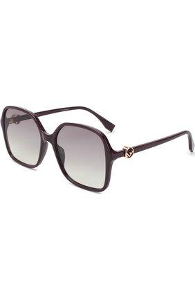 Мужские солнцезащитные очки FENDI темно-фиолетового цвета, арт. 0287 0T7 | Фото 1