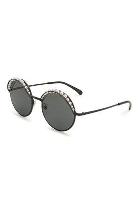 Солнцезащитные очки Chanel черные | Фото №1