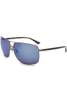Женские солнцезащитные очки GUCCI синего цвета, арт. 0065SK 003 | Фото 1