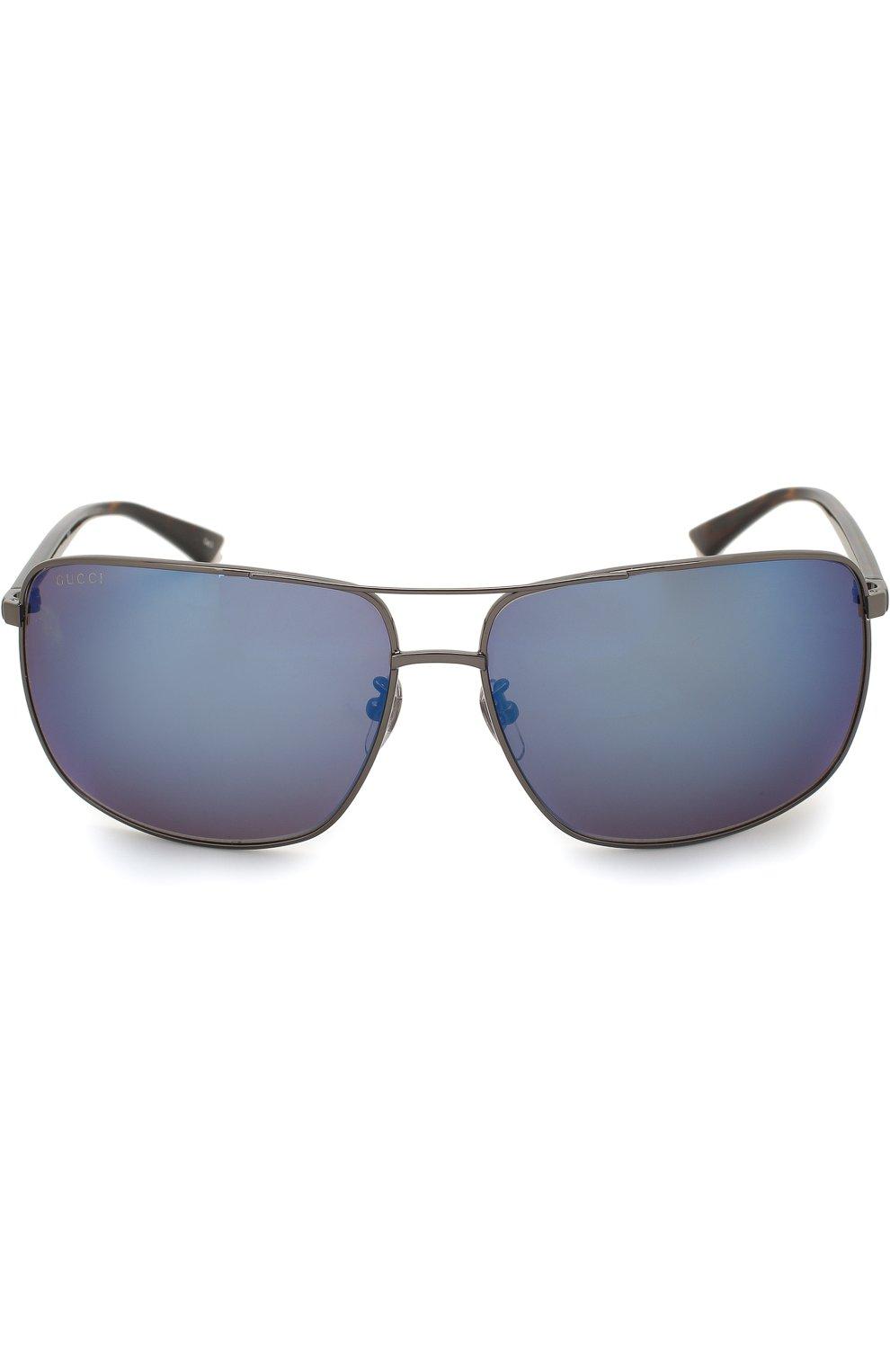 Женские солнцезащитные очки GUCCI синего цвета, арт. 0065SK 003 | Фото 2