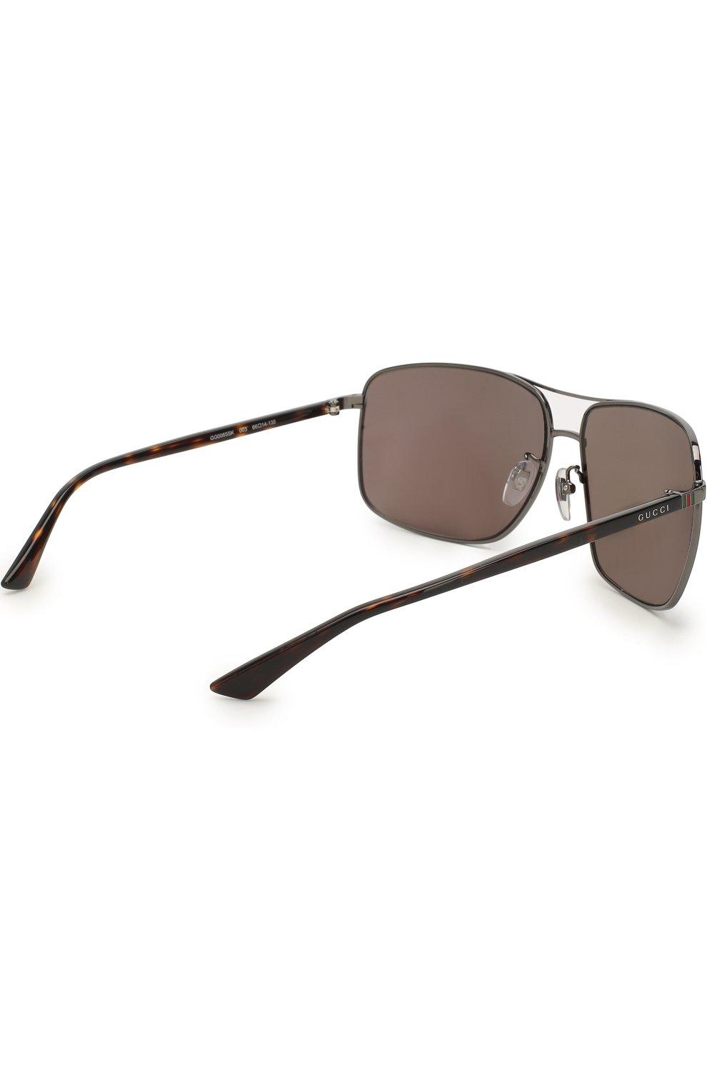 Женские солнцезащитные очки GUCCI синего цвета, арт. 0065SK 003 | Фото 3