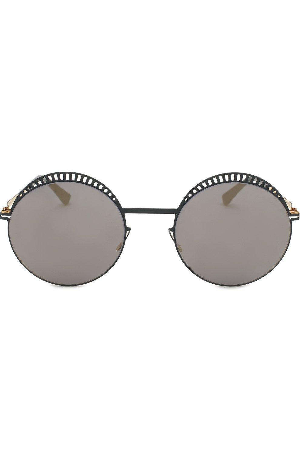 Женские солнцезащитные очки MYKITA черного цвета, арт. STUDI0 1.4/INDIG0/G0LD/BRILLIANTBLUE | Фото 3