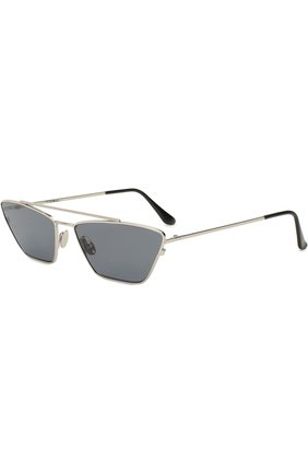 Женские солнцезащитные очки SPEKTRE серебряного цвета, арт. VANITY 02A | Фото 1 (Статус проверки: Проверена категория, Требуются правки; Тип очков: С/з; Оптика Гендер: оптика-женское; Очки форма: Узкие)