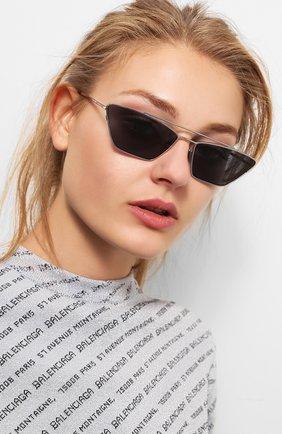 Женские солнцезащитные очки SPEKTRE серебряного цвета, арт. VANITY 02A | Фото 2 (Статус проверки: Проверена категория, Требуются правки; Тип очков: С/з; Оптика Гендер: оптика-женское; Очки форма: Узкие)