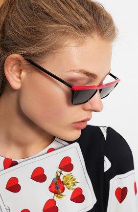 Женские солнцезащитные очки PRADA черного цвета, арт. 19US-YVH5S0 | Фото 2