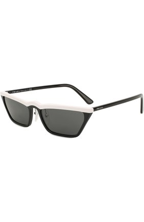 Солнцезащитные очки Prada черно-белые | Фото №1