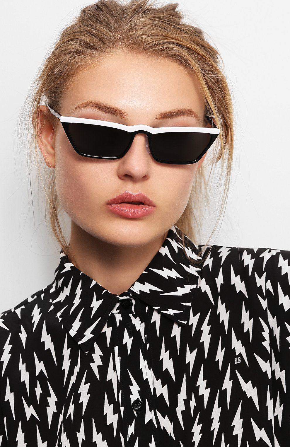 Солнцезащитные очки Prada черно-белые | Фото №2