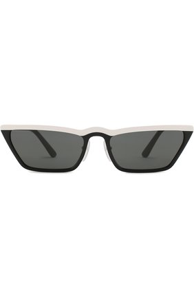 Солнцезащитные очки Prada черно-белые | Фото №3