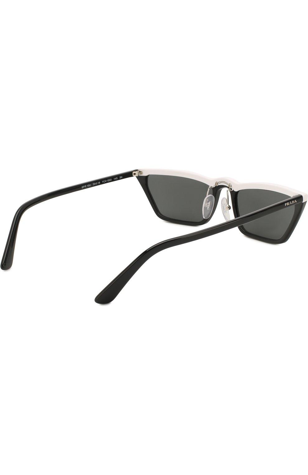 Солнцезащитные очки Prada черно-белые | Фото №4