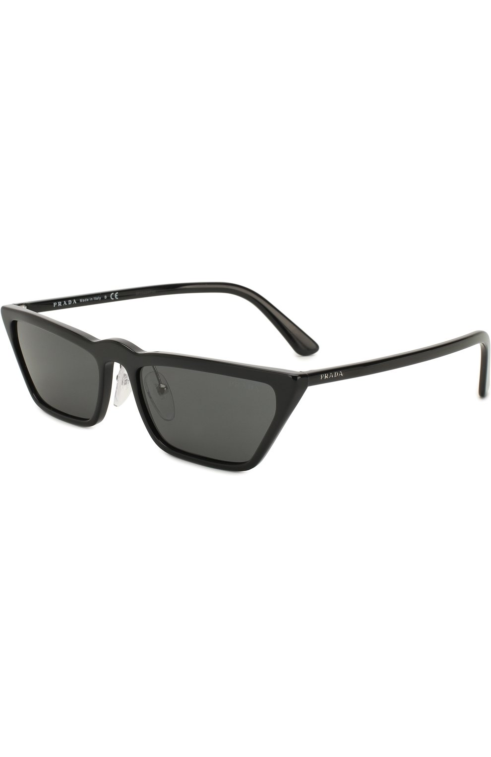 02a469cc5a64 Женские черные солнцезащитные очки PRADA — купить за 25200 руб. в ...