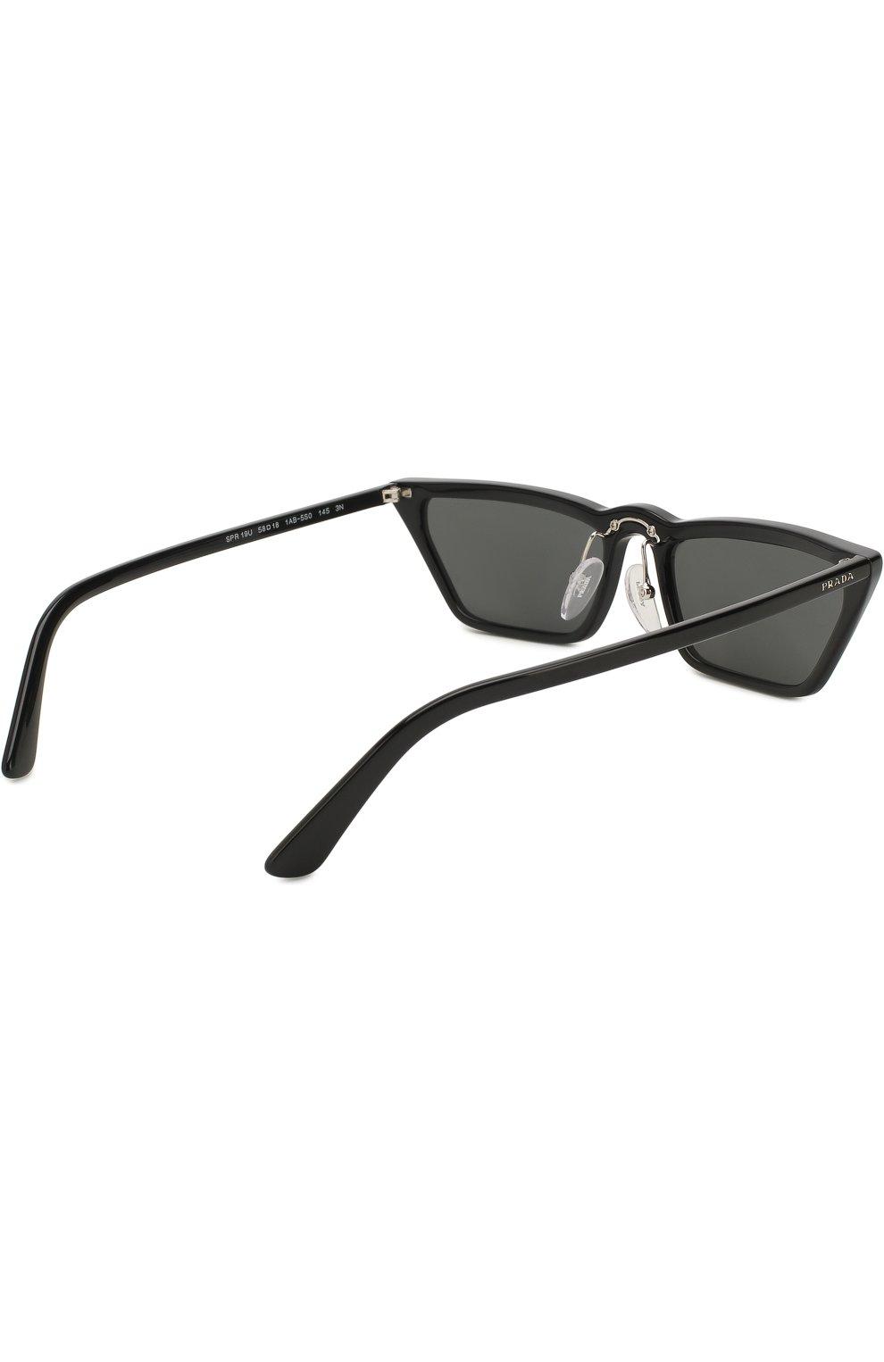 Солнцезащитные очки Prada черные   Фото №4
