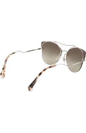 Солнцезащитные очки Miu Miu серые | Фото №4