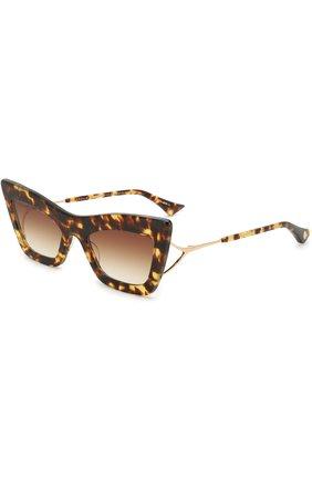 Солнцезащитные очки Dita коричневые | Фото №1