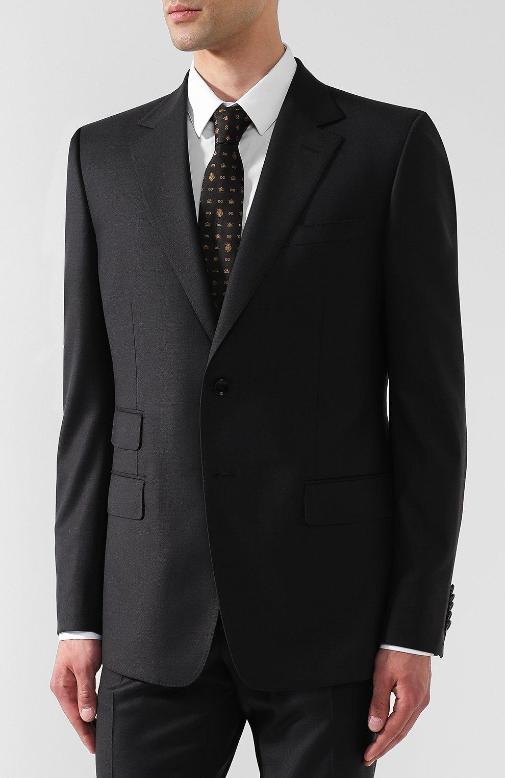 Шерстяной костюм с пиджаком на двух пуговицах | Фото №2