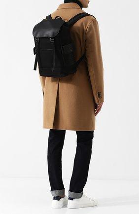 Мужской текстильный рюкзак с кожаной отделкой BOTTEGA VENETA черного цвета, арт. 520460/VAYE3 | Фото 2