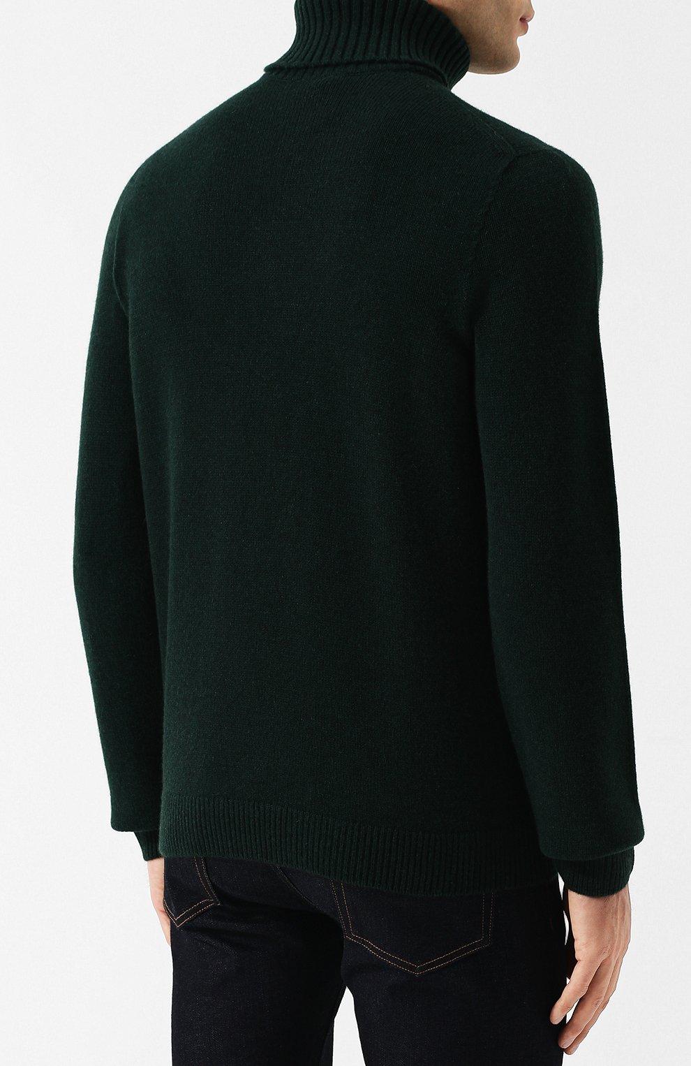 Кашемировый свитер с воротником-стойкой | Фото №4