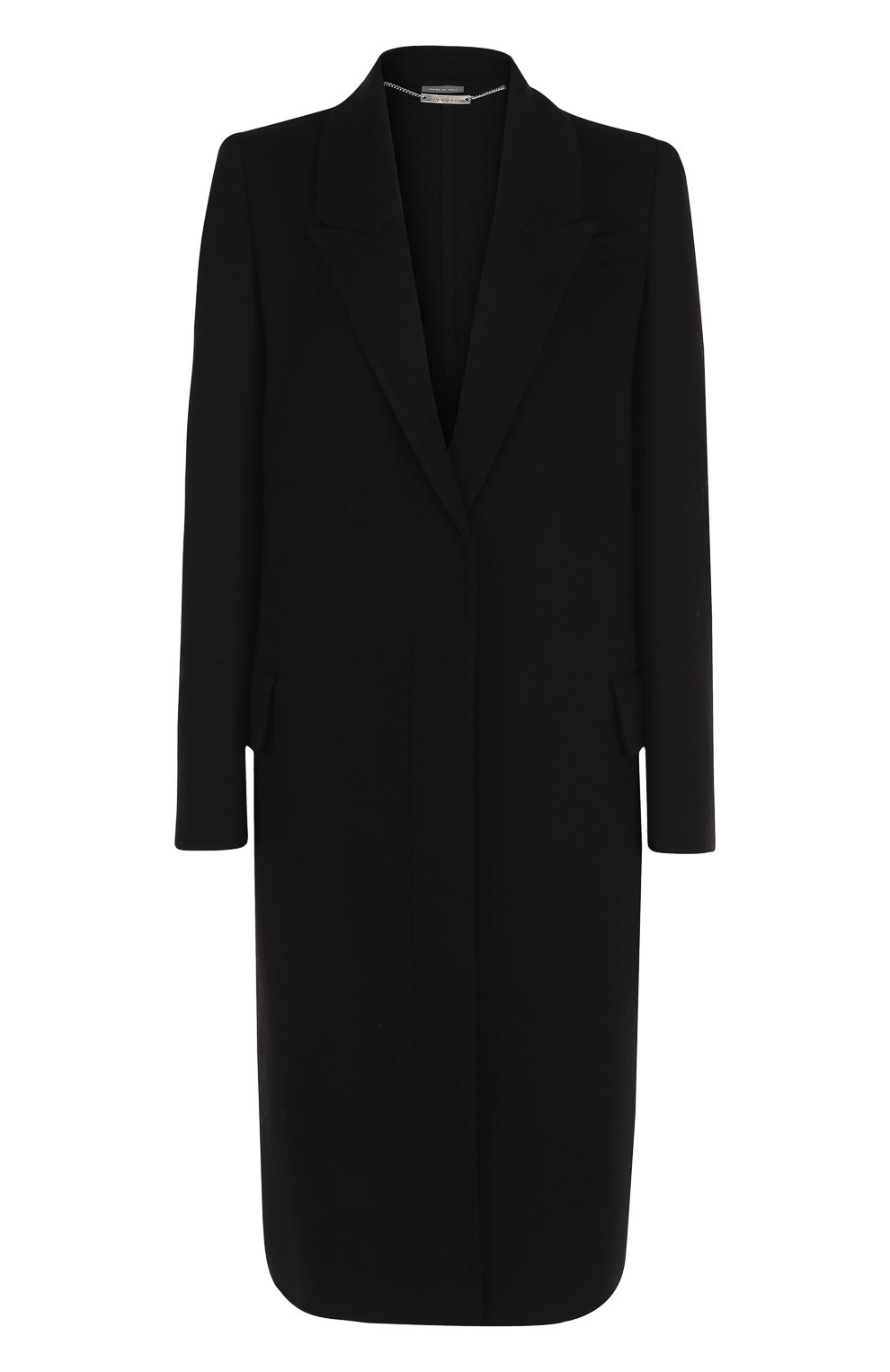 Однотонное пальто прямого кроя из смеси шерсти и кашемира | Фото №1