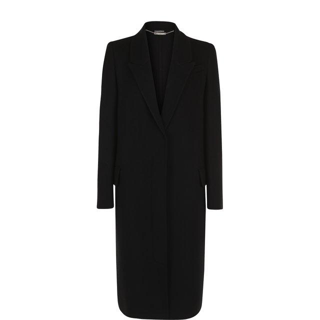 Однотонное пальто прямого кроя из смеси шерсти и кашемира Alexander McQueen