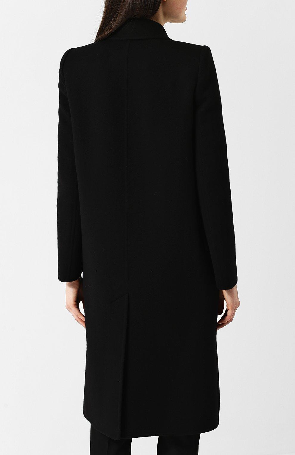 Однотонное пальто прямого кроя из смеси шерсти и кашемира | Фото №4