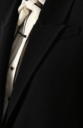 Однотонное пальто прямого кроя из смеси шерсти и кашемира | Фото №5