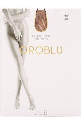 Женские капроновые колготки OROBLU бежевого цвета, арт. V0BC01179/XXL | Фото 1