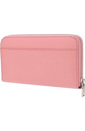 Женские кожаный кошелек на молнии DOLCE & GABBANA розового цвета, арт. BI0473/AU771 | Фото 2