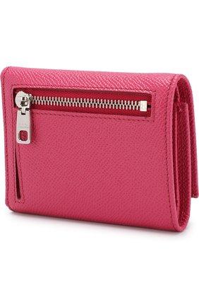 Женские кожаный кошелек на кнопке DOLCE & GABBANA розового цвета, арт. BI0770/AU771 | Фото 2