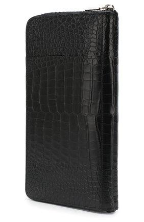 Мужской портмоне из кожи аллигатора с отделениями для кредитных карт ZILLI черного цвета, арт. MJL-0WT02-1010M/0001/AMIS | Фото 2