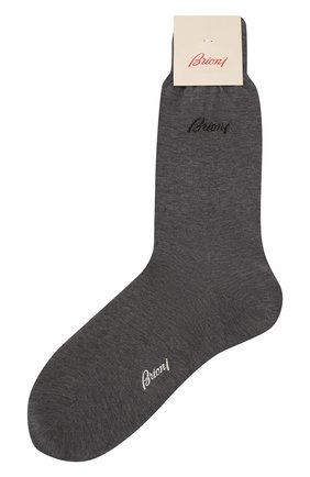 Мужские хлопковые носки BRIONI серого цвета, арт. 0VMC00/07Z07 | Фото 1