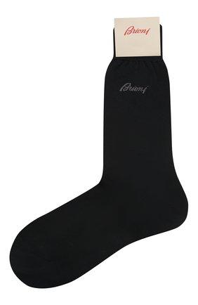 Мужские хлопковые носки BRIONI темно-синего цвета, арт. 0VMC00/07Z07 | Фото 1 (Материал внешний: Хлопок; Кросс-КТ: бельё)
