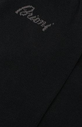 Мужские хлопковые носки BRIONI темно-синего цвета, арт. 0VMC00/07Z07 | Фото 2 (Материал внешний: Хлопок; Кросс-КТ: бельё)
