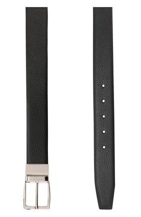 Мужской кожаный ремень CANALI темно-коричневого цвета, арт. 50/KA00107 | Фото 2