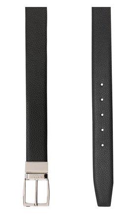 Мужской кожаный ремень CANALI черного цвета, арт. 50/KA00107 | Фото 2