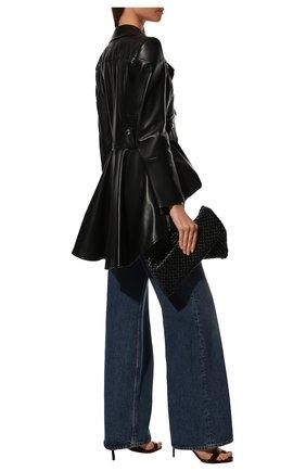 Женская приталенная кожаная куртка с удлиненной спинкой ALEXANDER MCQUEEN черного цвета, арт. 507772/Q5KWI | Фото 2