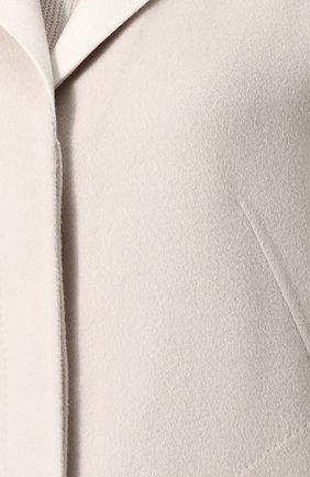 Женское кашемировое удлиненное пальто со спущенным рукавом LORO PIANA светло-серого цвета, арт. FAF9652 | Фото 5