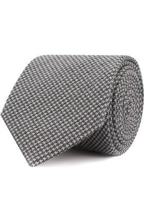 Галстук из смеси шерсти и шелка с узором | Фото №1
