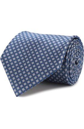 Мужской комплект из галстука и платка BRIONI синего цвета, арт. 08A400/07468   Фото 1
