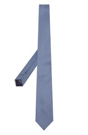 Мужской комплект из галстука и платка BRIONI синего цвета, арт. 08A400/07468   Фото 2