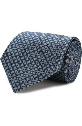 Мужской комплект из галстука и платка BRIONI темно-зеленого цвета, арт. 08A400/07468   Фото 1